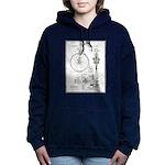 Bicycle Patent Print 1887 Women's Hooded Sweatshir