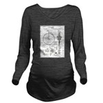 Bicycle Patent Print 1887 Long Sleeve Maternity T-