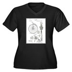 Bicycle Patent Print 1887 Plus Size T-Shirt