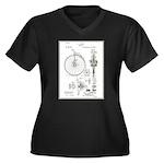 Bicycle Patent Print 1887 Plus Size T-Shirt