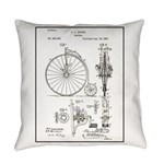 Bicycle Patent Print 1887 Everyday Pillow