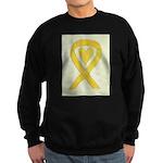 Yellow Awareness Ribbon Heart Sweatshirt