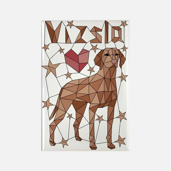 Cool Puppy love Rectangle Magnet