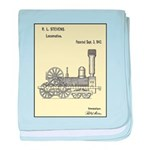 Train Locomotive Patent Paper Print 1842 baby blan