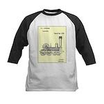 Train Locomotive Patent Paper Print 1842 Baseball