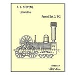 Train Locomotive Patent Paper Print 1842 Small Pos