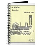 Train Locomotive Patent Paper Print 1842 Journal