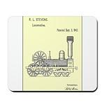 Train Locomotive Patent Paper Print 1842 Mousepad