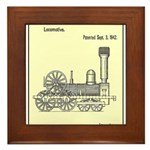 Train Locomotive Patent Paper Print 1842 Framed Ti