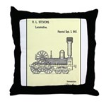 Train Locomotive Patent Paper Print 1842 Throw Pil