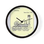 Train Locomotive Patent Paper Print 1842 Wall Cloc