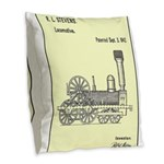 Train Locomotive Patent Paper Print 1842 Burlap Th