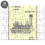 Train Locomotive Patent Paper Print 1842 Puzzle