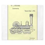 Train Locomotive Patent Paper Print 1842 King Duve