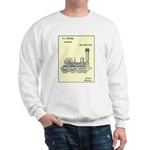 Train Locomotive Patent Paper Print 1842 Sweater