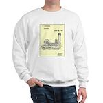 Train Locomotive Patent Paper Print 1842 Sweater