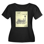 Train Locomotive Patent Paper Print 1842 Plus Size