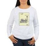 Train Locomotive Patent Paper Print 1842 Long Slee