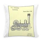 Train Locomotive Patent Paper Everyday Pillow