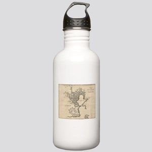Vintage Map of Plymout Stainless Water Bottle 1.0L