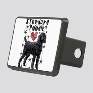 Geometric Standard Poodle Rectangular Hitch Cover