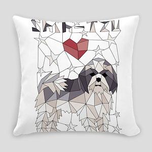 Geometric Shih-Tzu Everyday Pillow