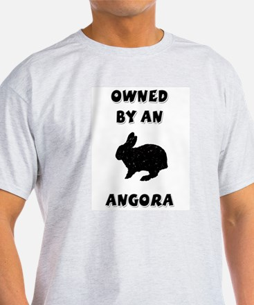 Owned by an Angora Rabbit Ash Grey T-Shirt