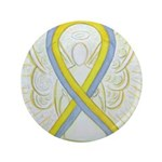 Gray and Yellow Awareness Ribbon 3.5