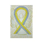 Gray And Yellow Awareness Ribbon Magnets -100 Pack