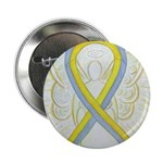 Gray and Yellow Awareness Ribbon 2.25