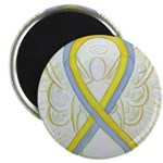 Gray and Yellow Awareness Ribbon Magnets