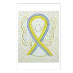 Gray And Yellow Awareness Postcards (package Of 8)