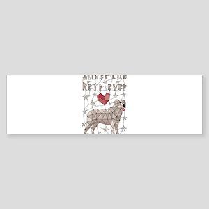 Geometric Silver Lab Retriever Bumper Sticker