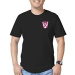 Hot Pink Awareness Ribbon Fitted Dark T-Shirt
