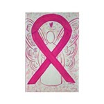 Hot Pink Awareness Ribbon Angel Magnets -100 Pack