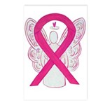 Hot Pink Awareness Ribbon Postcards (package Of 8)