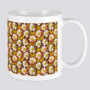 Garnet and Gold Field of Daisy Flowers Mugs