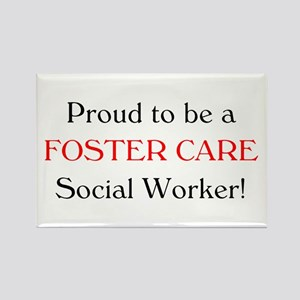 Proud Foster Care SW Rectangle Magnet