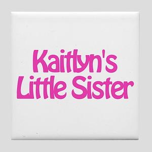 Kaitlyn's Little Sister Tile Coaster