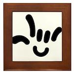 ILY Character Framed Tile