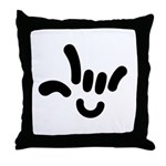 ILY Character Throw Pillow