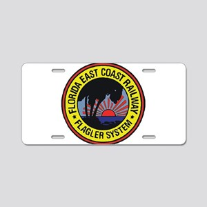 Florida East Coast Railway Aluminum License Plate