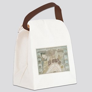 Vintage Map of New Orleans Louisi Canvas Lunch Bag