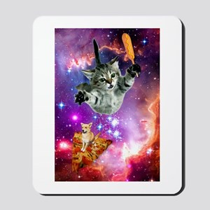 Space Cat with Magical Corn Dog Mousepad