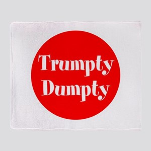 Trumpty Dumpty Throw Blanket