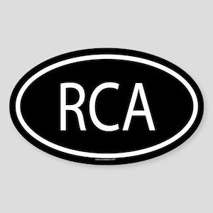 RCA Oval Sticker