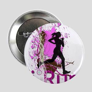 """iRun Pink & Red 2.25"""" Button (10 pack)"""