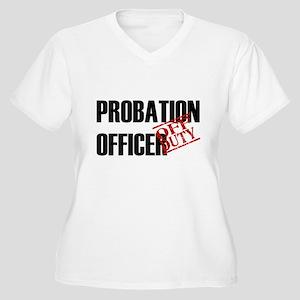 Off Duty Probation Officer Women's Plus Size V-Nec