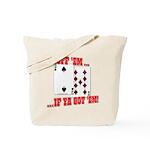 Bluff Texas Hold 'em Tote Bag