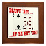 Bluff Texas Hold 'em Framed Tile